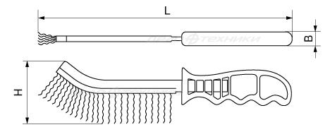 Щётка с пластиковой рукояткой