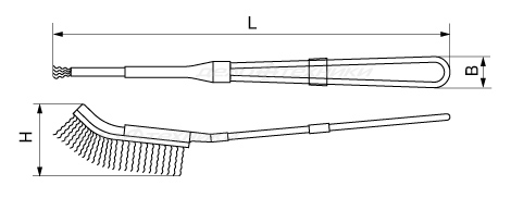 Щётка с металлической рукояткой