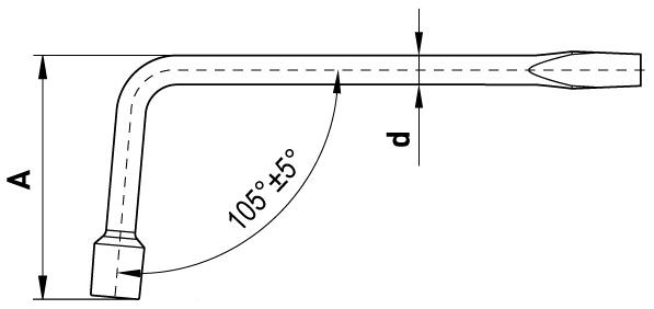 Ключ баллонный кованый L-образный