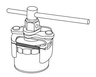Съёмник масляных фильтров с полукруглыми захватами