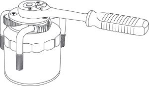 Съёмник масляных фильтров трехлапый